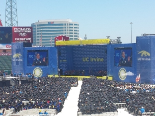 President Obama gives commencement speech at UCI, 2014